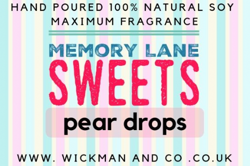 Memory Lane Sweets - Pear Drops Soy Wax Candle